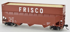 Bowser 42592 SLSF Frisco 70T Rib Side Wood Chip #5922 HO scale