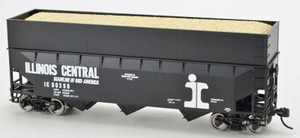 Bowser 42602 Illinois Central IC 70T Rib Side Wood Chip #80444 HO scale