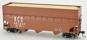 Bowser 42605 Kansas City Southern KCS 70T Rib Side Wood Chip #502856 HO scale