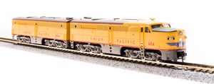 BLI 3855 Alco PA/PB Set, UP #604/604B, Yellow & Gray, A-unit w/ Paragon3 Sound/DC/DCC, Unpowered B-unit, N