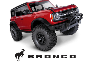 Traxxas 92076-4 Ford Bronco 4WD Red Rock Crawler 1/10 Scale