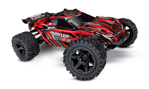 Traxxas 67064-1 Rustler 4WD Brushed Red 1/10 Scale