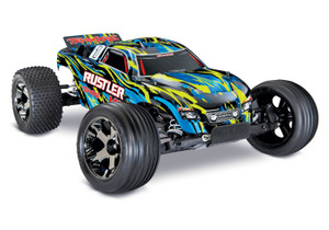 Traxxas 37076-4 Rustler 2WD VXL Brushless Yellow 1/10 Scale