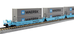 KATO N scale 106-6199 Maersk #100043 with Maersk Containers 5-car set