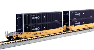 KATO N scale 106-6176 DTTX Maxi-IV Double Stack Cars #766519 with UMAX Containers 5-car set