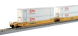 KATO N scale 106-6173 DTTX Maxi-IV Double Stack Cars #732002 with CN Containers 5-car set