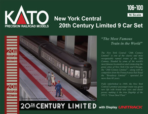 KATO N scale 106-100-1 New York Central 20th Century Limited 9-car set LIGHTED