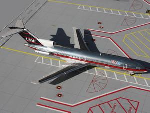 Gemini Jets G2USA102 US Air 727-200 N745US 1:200