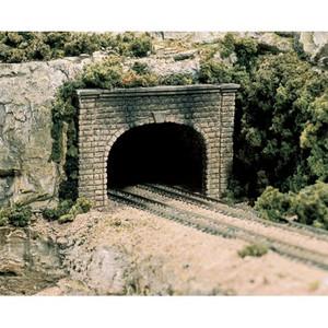 Woodland Scenics WOOC1157 Double Tunnel Portal, Cut Stone, 2 pieces
