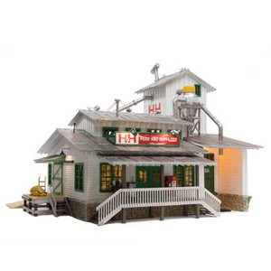 Woodland Scenics BR5859 H&H Feed Mill O scale Built-Up