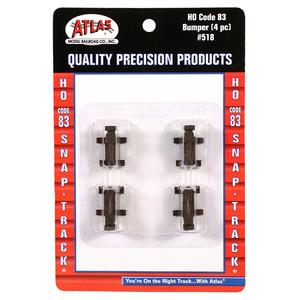 Atlas 518 Bumpers Code 83 HO gauge (4 per pack)