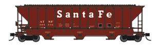 "Trainworx 24425-13 ATSF ""Santa Fe"" early 80's repaint PS2CD high side covered hopper N scale #307831"