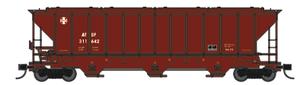 Trainworx 24425-19 ATSF 90's Repaint PS2CD high side covered hopper N scale #308041