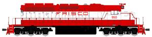 BLI 4219 EMD SD40-2, Frisco #957, Red & White, Paragon3 Sound/DC/DCC, HO