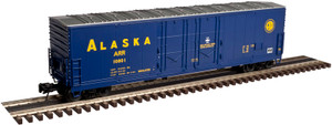 Atlas O 3002321-1 Alaska RR #10801 53' Evans Double Plug-Door Box Car 2-rail