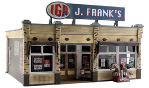 Woodland Scenics BR5851 J. Frank's Grocery O scale Built-Up