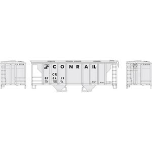 Roundhouse 96152 Conrail PS-2 2-bay Cov. Hopper #876412 HO