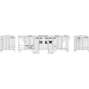 Roundhouse 96164 N&W PS-2 2-bay Cov. Hopper #71427 HO