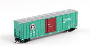 FVM 81813 GN Great Norhern 7 Post Boxcar #138028 N scale