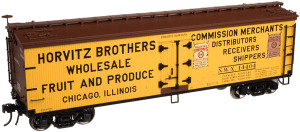 Atlas O 3002513-02 Horvitz Brothers #14404 40' Wood Reefer, 2-rail