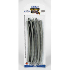 "Bachmann HO 44504 33.25"" r Curved Track (5 per card) Code 100"
