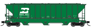 Trainworx 24411-14 Burlington Northern PS2CD 4427 high side covered hopper N scale #439028