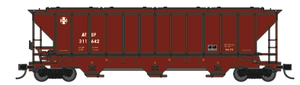 Trainworx 24425-24 ATSF 90's Repaint PS2CD high side covered hopper N scale #317057