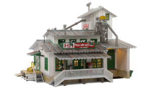 Woodland Scenics BR4949 H&H Feed Mill N scale Built-Up