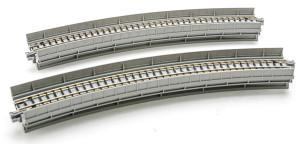 Kato N scale 20-530 Single Track Curved Viaduct R13-3/4 45 Degree Unitrack (2 per card)