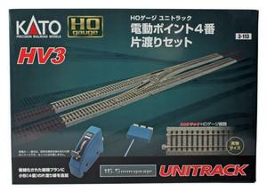 Kato 3-113 HV3 Crossover Set w/ remote control & #4 TurnoutsHO