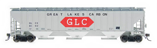 Intermountain 45360-04 Great Lakes Carbon #8102 4750 cf 3-bay Covered Hopper HO scale