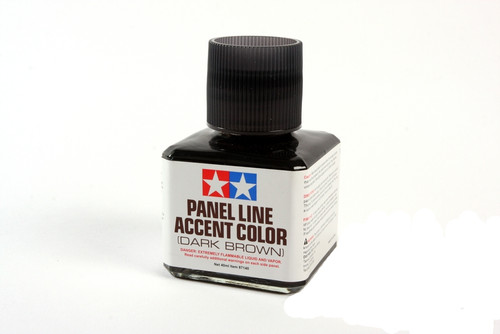 Tamiya 87140 Dark Brown Panel Line Accent Color 40ml