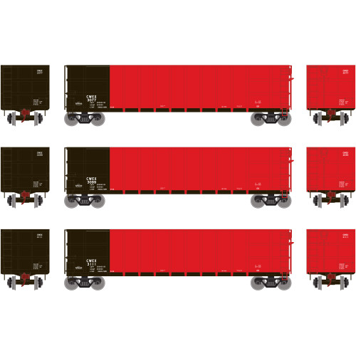 Athearn RTR 16472 Commonwealth Edison CWEX Thrall High Side Gondola #1 3-pack HO