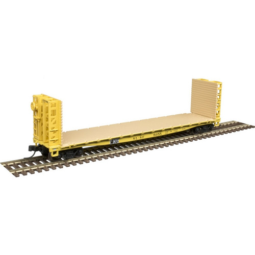 Atlas N scale 50004810 Frisco 48' GSI Bulkhead Flat Car #5607