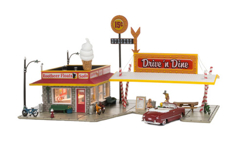 Woodland Scenics BR4929 Drive 'N Dine N scale Built-Up