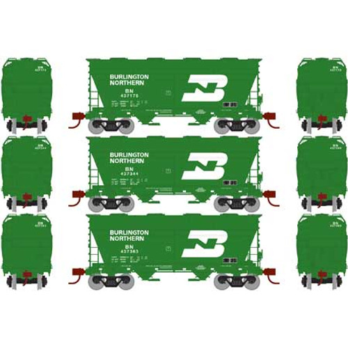 Athearn RTR 23450 BN 2970 Covered Hopper 3-pack N Scale