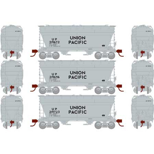 Athearn RTR 23459 Union Pacific 2970 Covered Hopper 3-pack N Scale