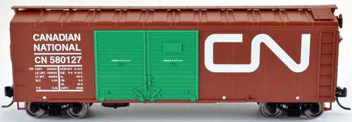 Bowser 42422 CN Canadian National 40' Steel Side Box Car(Lumber Loading) #580127 RTR HO scale