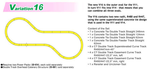 KATO N scale 20-876 V16 Double Track Outer Loop Set
