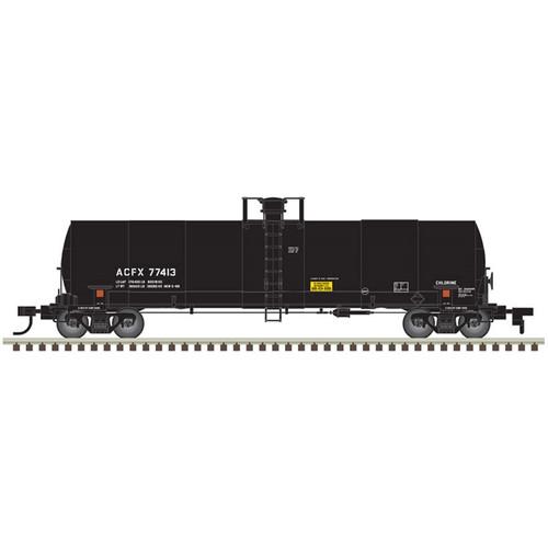 Atlas HO 20005620 ACFX 17,360 gal Chlorine Tank Car #77379 HO