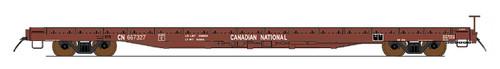 Intermountain 46421-01 Canadian National 60' Wood Deck Flat Car  #667054  HO