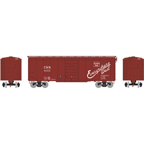 Athearn RTR 73577 CB&Q/C&S 40' Superior Door Box Car #1797 HO scale