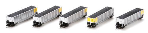 Athearn N 11919 CCTX Burlington Northern Coalporter w/load 5-car set N scale