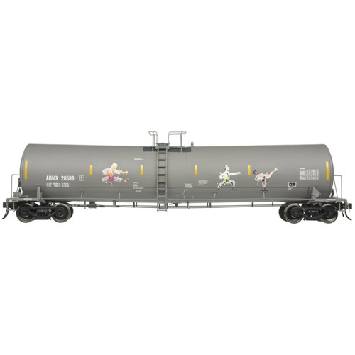Atlas N scale 50005686 ADMX Kung Fu Grafitti Trinity 25,500 fat Tank Car #28589