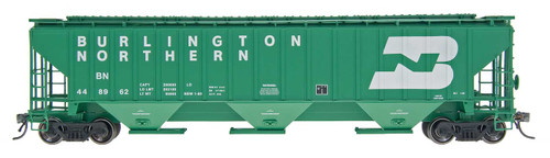 Intermountain 45302-64 Burlington Northern #449236 4750 CF Rib-Sided 3-bay Hopper NEW Date 5-78 HO