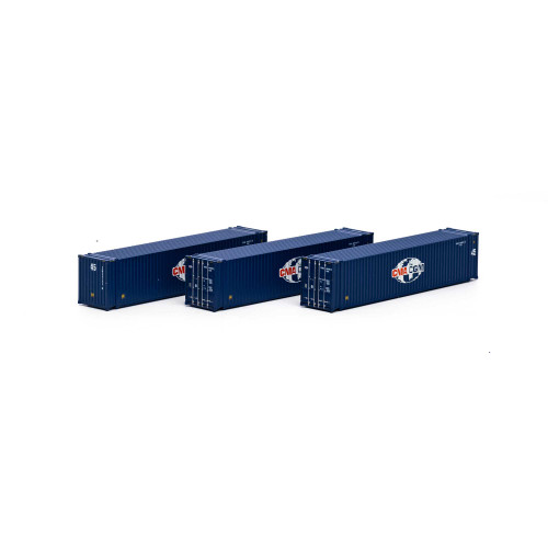 Athearn 17673 CMA/CGM 45' Container 3-pack N scale