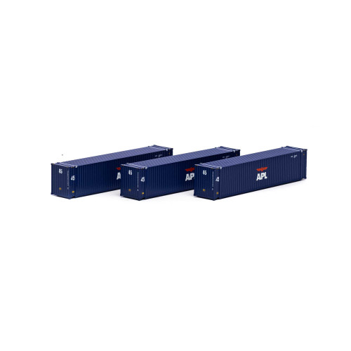 Athearn 17672 APL 45' Container 3-pack N scale