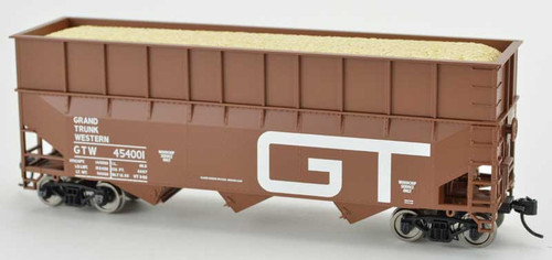 Bowser 42596 GT Grand Trunk Western 70T Rib Side Wood Chip #454015 HO scale
