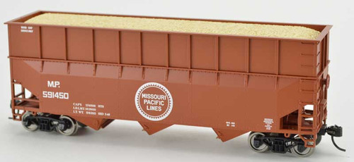 Bowser 42608 MP Missouri Pacific 70T Rib Side Wood Chip #591515 HO scale