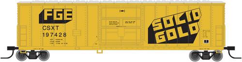 """Atlas N 50002530 CSX """"Solid Gold"""" FGE 50' Box Car #197447"""